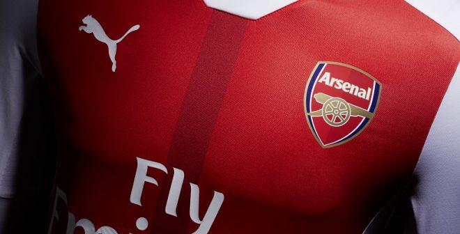 Puma dévoile le nouveau maillot domicile d'Arsenal