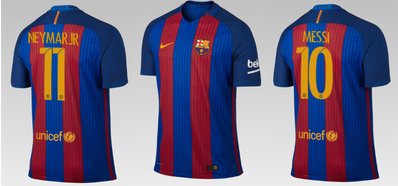 qatar airways sponsor maillot du fc barcelone pour la saison 2016 2017. Black Bedroom Furniture Sets. Home Design Ideas