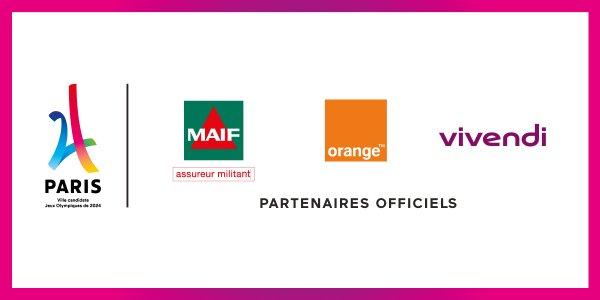 paris 2024 partenaires Orange vivendi la maif sponsors