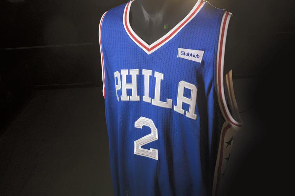 philadelphia 76ers stubhub NBA sponsor jersey deal