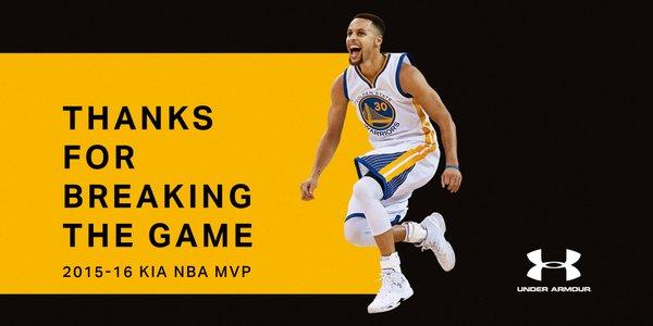 steph curry MVP 2016 under armour NBA 2k16