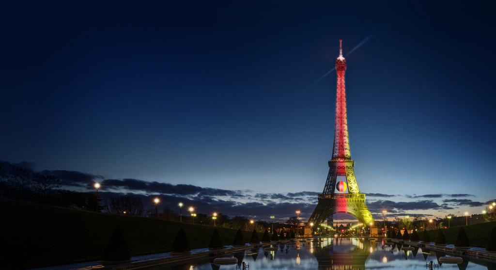 tour eiffel couleur allemagne uefa euro 2016 Orange ville de paris