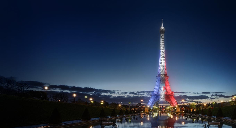 tour eiffel illuminée euro 2016 orange ville de paris football