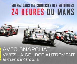 Les 24 Heures du Mans s'invitent sur Snapchat