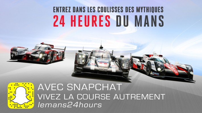 les 24 heures du mans s 39 invitent sur snapchat. Black Bedroom Furniture Sets. Home Design Ideas