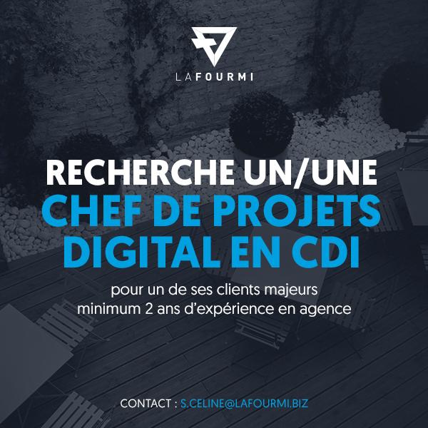 Offre Emploi Cdi Chef De Projets Digital Lafourmi