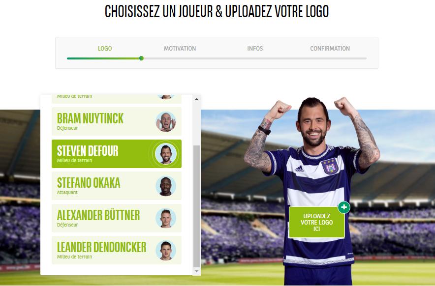 bnp paribas RSC Anderlecht sponsor concours entreprises 2016