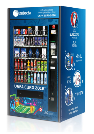 distributeur automatique euro 2016 selecta UEFA