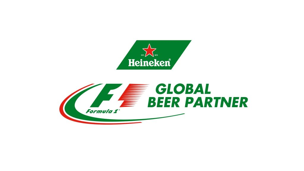 heineken global beer parner Formula one