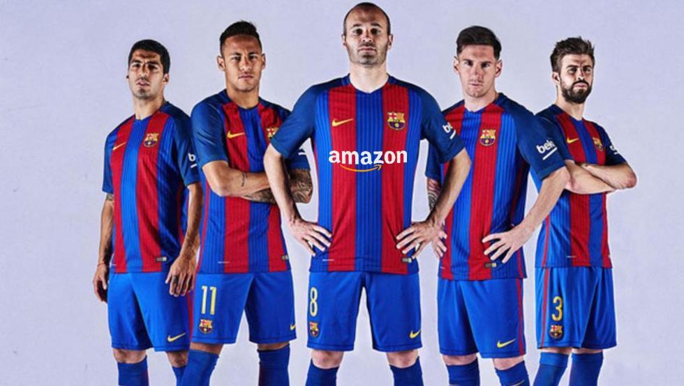 FC Barcelona Amazon sponsor maillot shirt