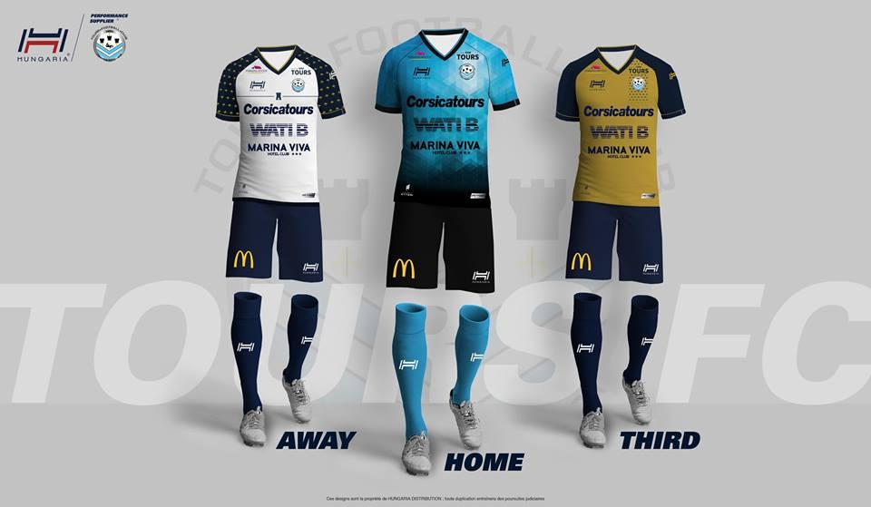 Hungaria nouveaux maillots Tours FC 2016 2017 ligue 2