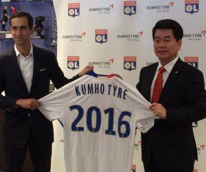 L'OL signe un partenariat avec Kumho Tyre et met sa mascotte à contribution