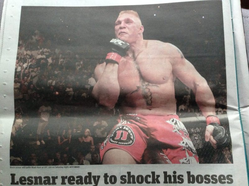 Lesnar UFC 200 Las Vegas