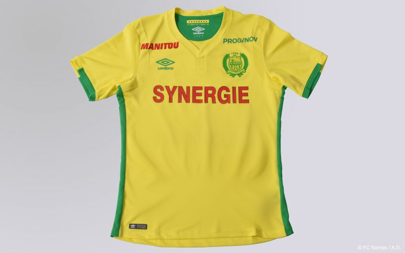 MAILLOT FC Nantes Manitou sponsoring