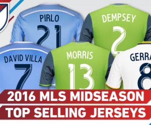 Top 20 des joueurs MLS qui vendent le plus de maillots (mi-saison 2016)