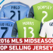 MLS 2016 Top 5 Selling Jersey players