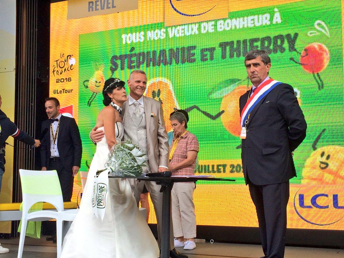 Mariage Tour de France 2016 Pressade sponsor