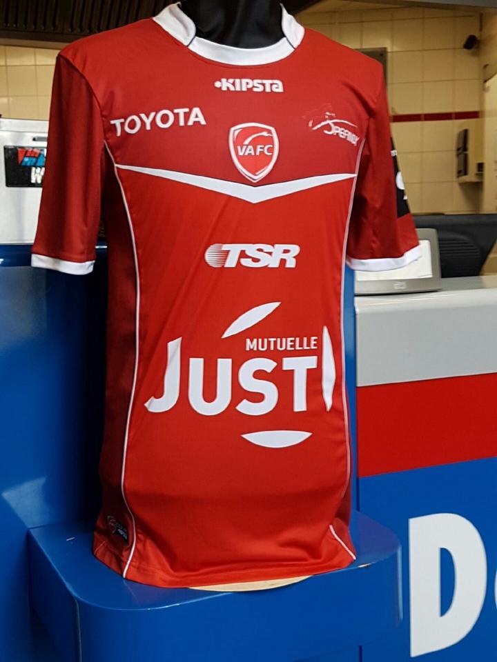 Nouveau maillot Valenciennes FC Kipsta 2016 2017 football