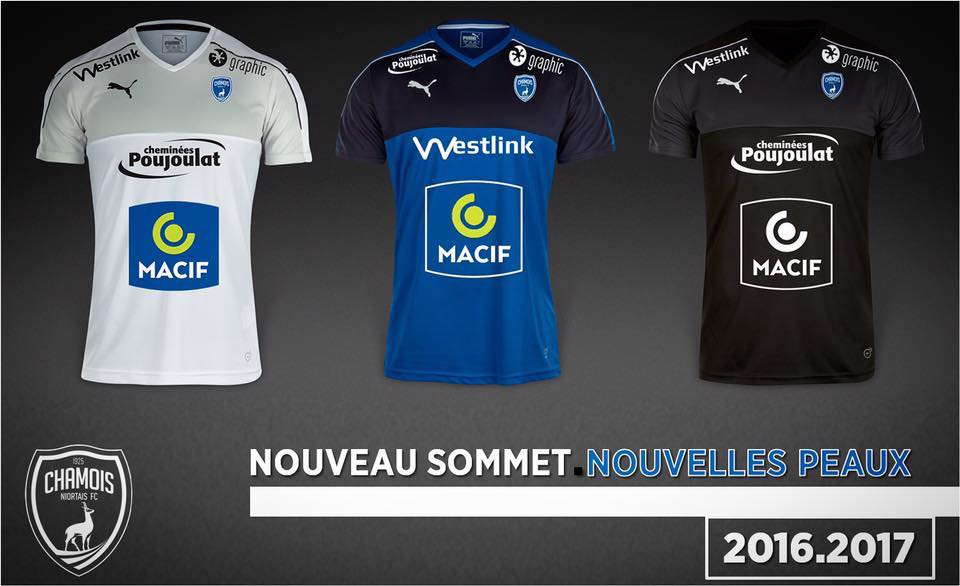 Nouveaux maillots chamois niortais puma football saison 2016 2017
