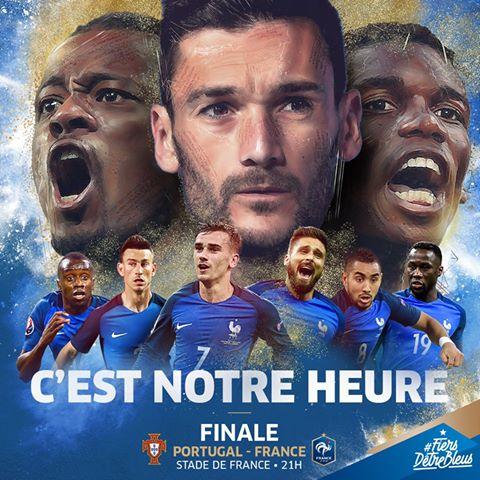Portugal france finale euro 2016 affiche les bleus