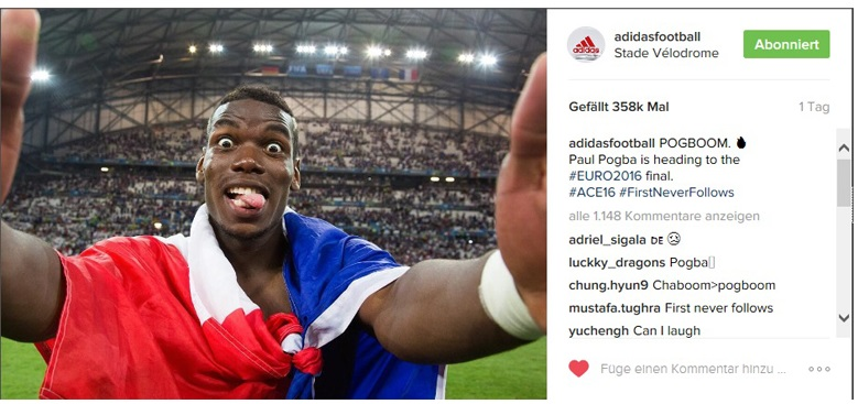 adidas football digital euro 2016 pogba campaign first never follows marketing
