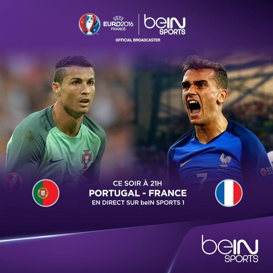 audiences bein sports finale euro 2016 portugal france