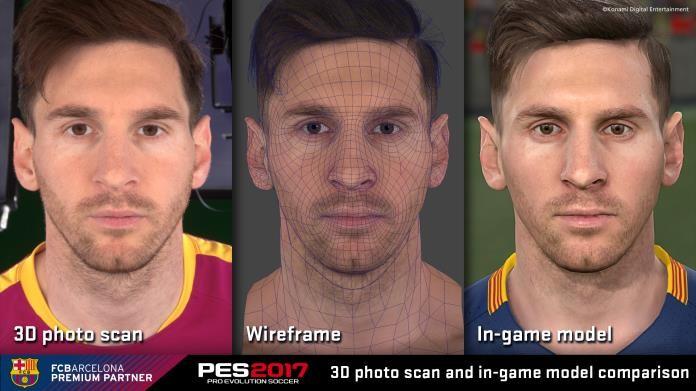 joueurs FC Barclone PES 2017 konami modélisation 3D