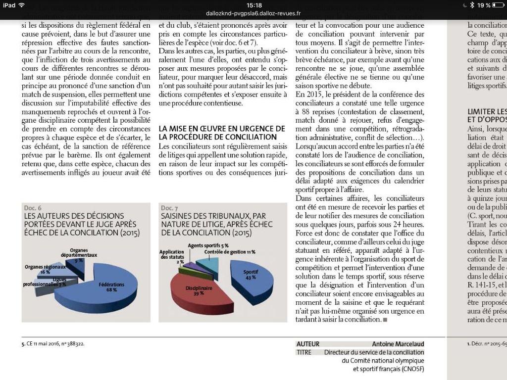 jurisport conciliation CNOSF