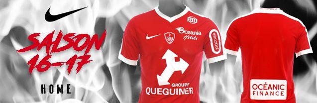 maillot stade brestois Nike 2016 2017 ligue 2