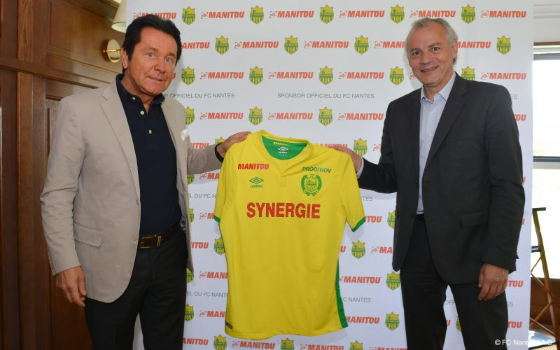 manitou sponsor maillot du FC Nantes ligue 1