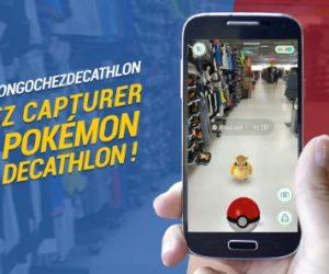 Decathlon surfe sur la vague du jeu Pokémon Go