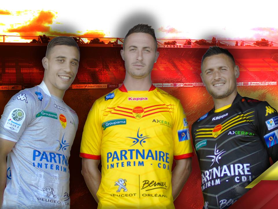 us orléans nouveaux maillots 2016 2017 kappa ligue 2 domino's