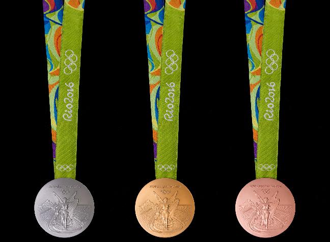 Médaille or argent et bronze Jeux Olympiques Rio 2016