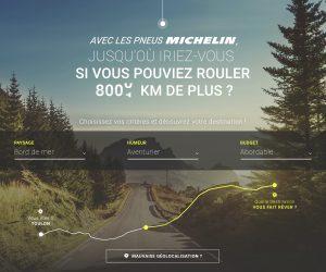 Avec les pneus Michelin, jusqu'où iriez-vous si vous pouviez rouler 8 000 km de plus ?