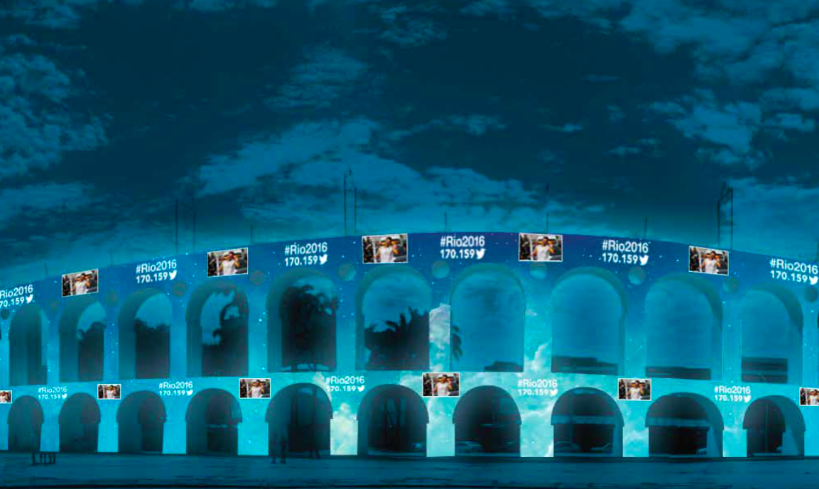 Twitter Rio 2016 Aqueduc de Carioca (Arcos de Lapa) Rio de Janeiro tweets Jeux Olympiques
