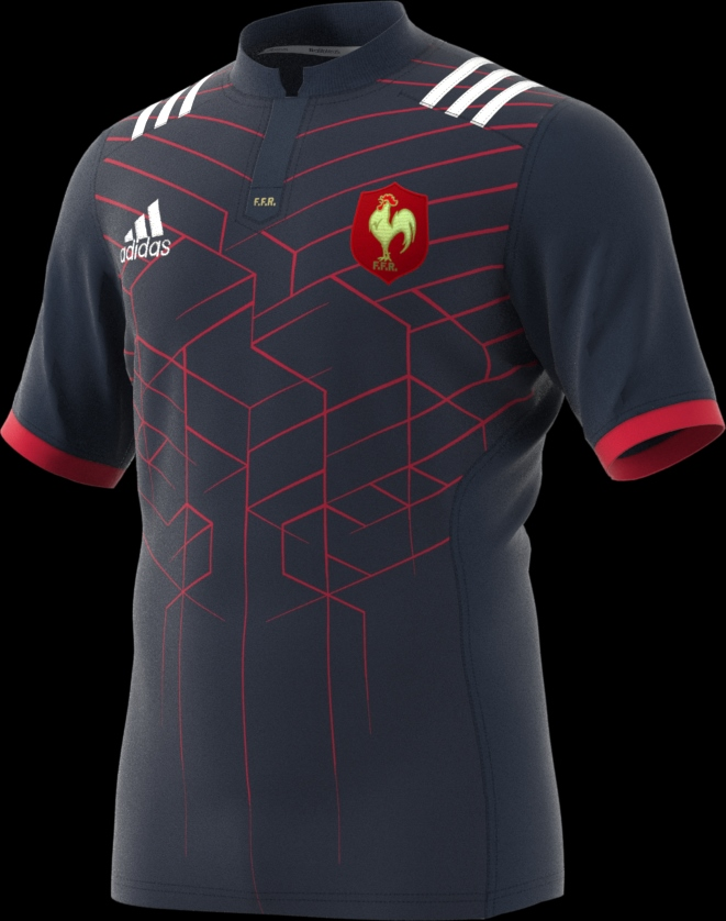 Adidas c l bre le french flair avec le nouveau maillot for Maillot exterieur xv de france