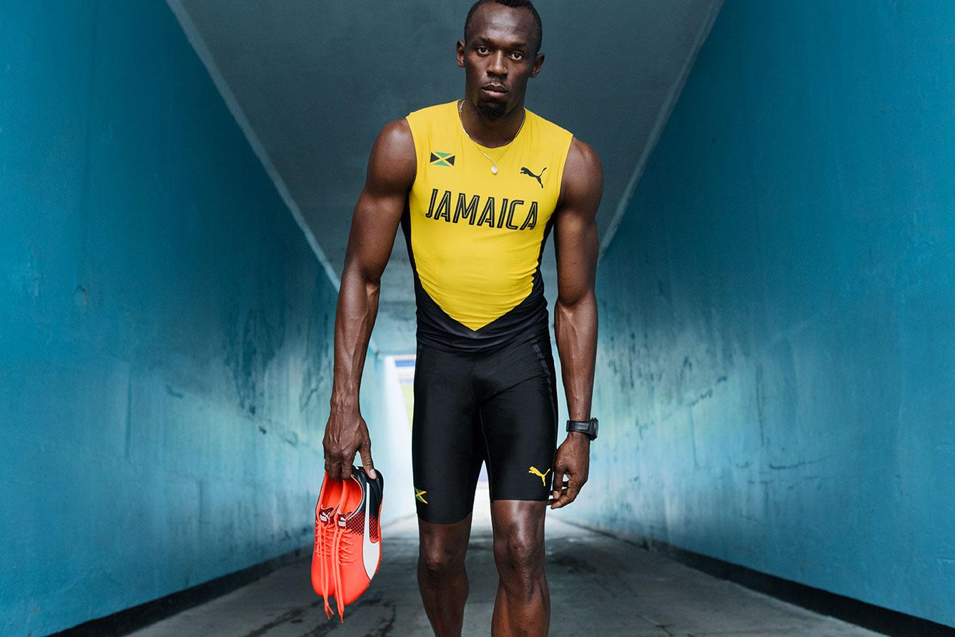 tenue rio 2016 usain bolt Puma jamaïque