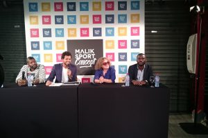 Jo-Wilfried Tsonga inaugure le Malik Sport Concept en présence de Djibril Cissé et Percymad