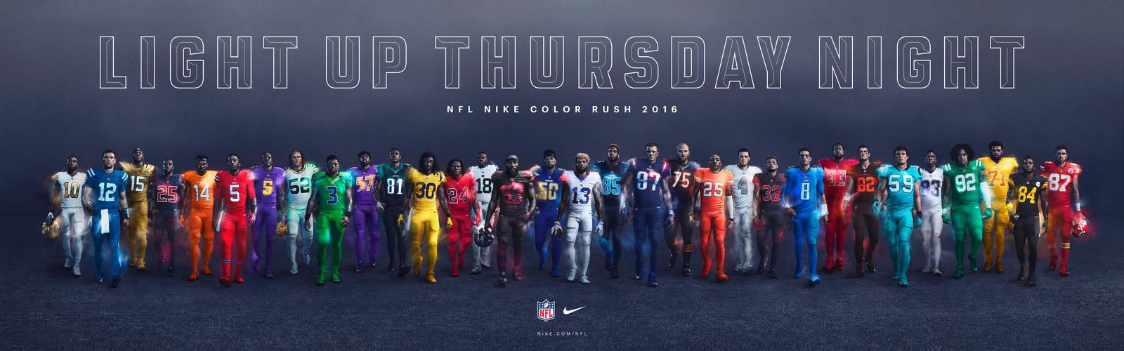 Nike Pr 233 Sente Les 32 Maillots Nfl Quot Color Rush Quot Pour Le