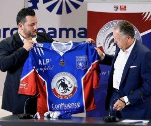 L'OL nouveau Partenaire majeur du club de hockey sur glace du LHC et s'affiche comme sponsor maillot