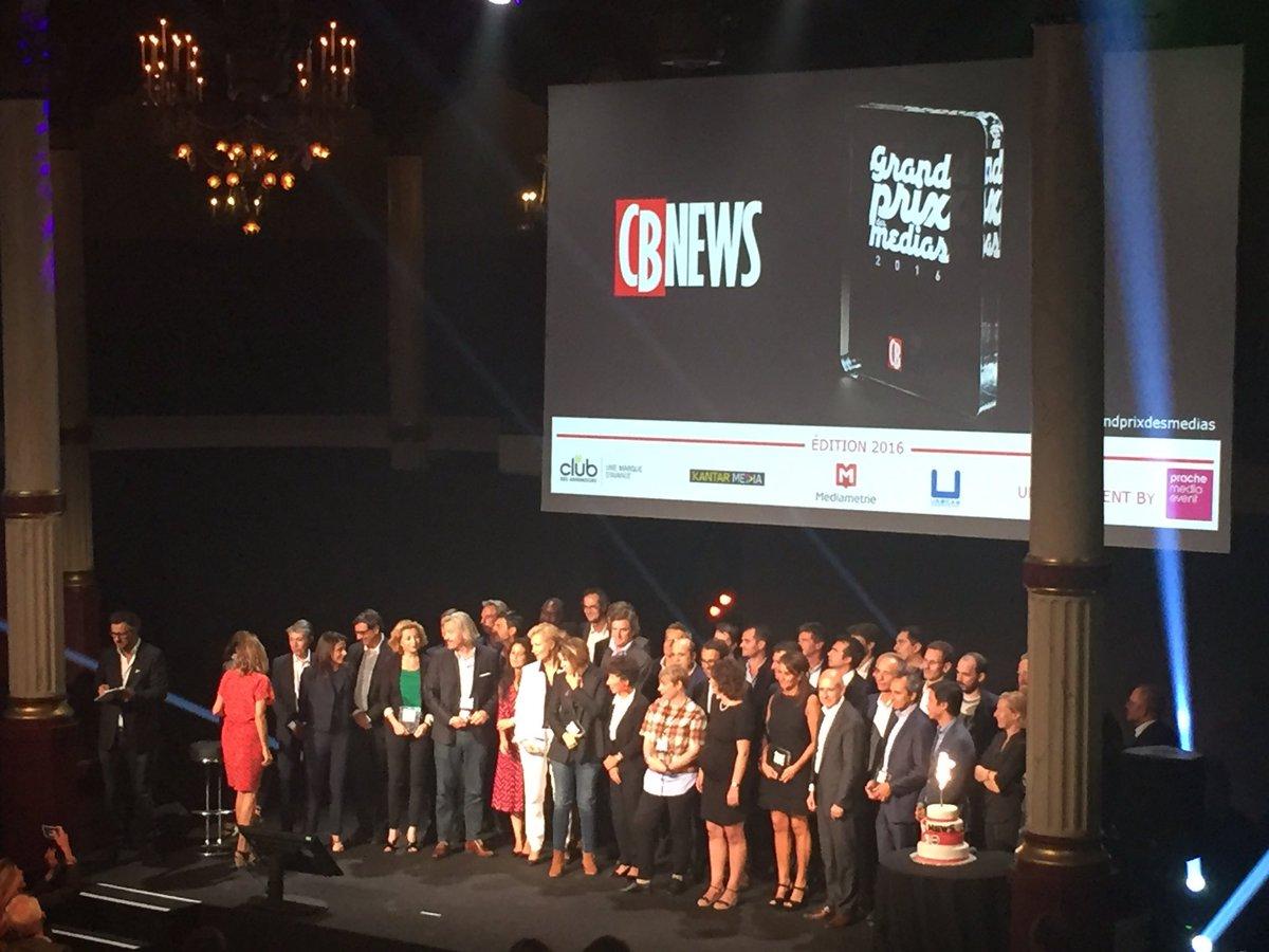 grand prix des médias 2016 cb news L'Equipe vainqueur