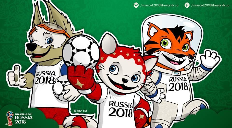 Coupe du monde de football russia 2018 les 3 mascottes - La mascotte de la coupe du monde 2014 ...