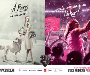Le Stade Français Paris joue la carte des stéréotypes parisiens dans sa nouvelle campagne de communication