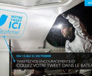 Vendée Globe 2016 – Votre Tweet fait le tour du monde avec Armel Le Cléac'h (Banque Populaire)