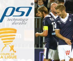 PSI nouveau sponsor maillot des Girondins de Bordeaux pour la Coupe de la Ligue