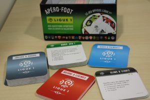 """CONCOURS – Nous vous offrons 5 boîtes """"Apéro-Foot Ligue 1"""" (450 questions)"""