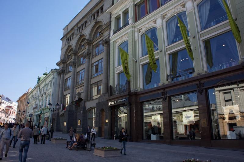La façade du nouveau Nike store moscovite