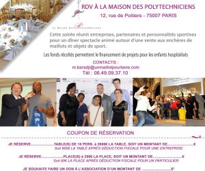 Participez au dîner-spectacle d'1 Maillot pour la Vie organisé au bénéfice des enfants hospitalisés