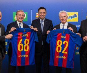 Nestlé fait son entrée dans le sponsoring d'un club avec le FC Barcelone