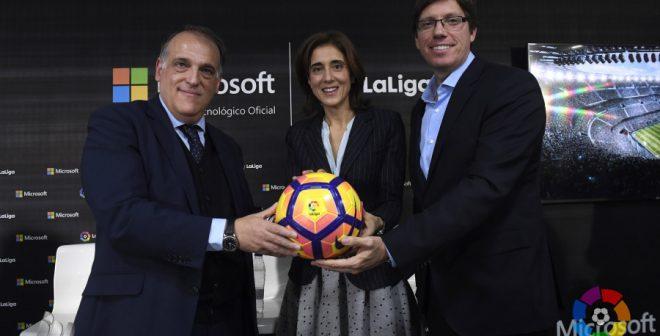 Microsoft nouveau partenaire de LaLiga pour transformer l'expérience digitale des fans de football